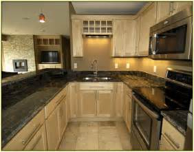 Peel And Stick Kitchen Backsplash Ideas black granite countertops with dark cabinets home design