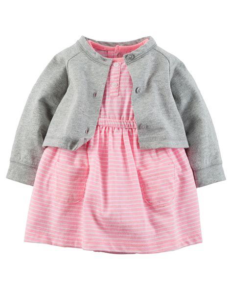 Dress Cardigan Baby Pink carter s baby dress cardigan set pink gray 12m
