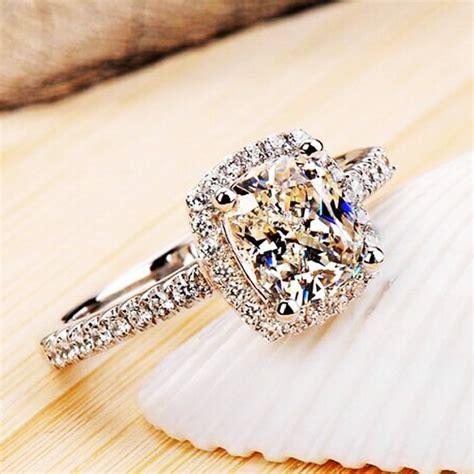 pretty diamonique cz white gold filled engagement wedding