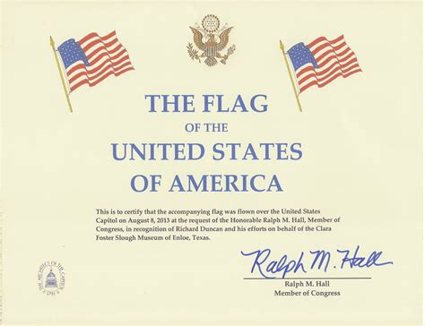 Flag Flown Certificate Template Military Bralicious Co Flag Certificate Template