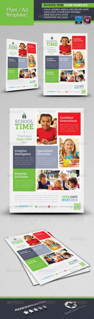 School Time Flyer Template Print Ad Templates Print Ad Templates