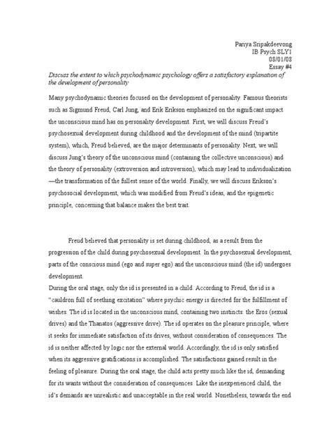 Sigmund Freud Essays by Psychodynamic Theory Freud Essay