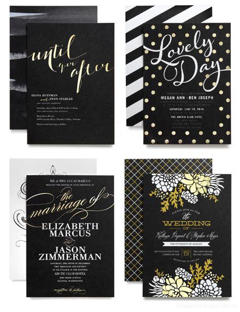 Wedding Invitations Black Paper by Wedding Paper Divas Wedding Paper Divas Foil Sted