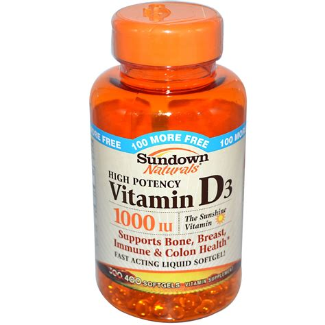 Vitamin D3 1000 Iu rexall sundown naturals high potency vitamin d3 1000 iu