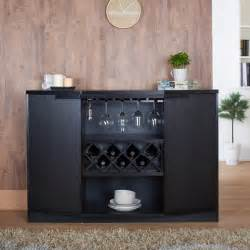 Bar Buffet Table Wine Bar Storage Buffet Modern Furniture Black Glass
