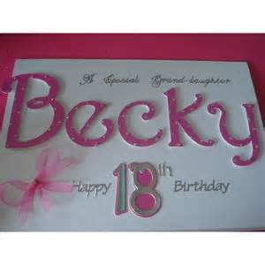 Ideas For 18th Birthday Cards Handmade - handmade grand personalised name 18th birthday