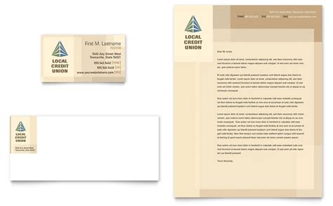 Bank Letterhead Credit Union Bank Business Card Letterhead Template Word Publisher