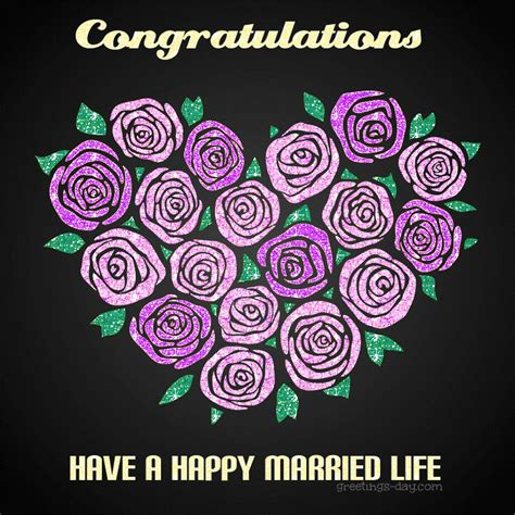 wedding congratulation cards   happy married life
