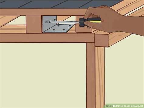 how to build a l how to build a carport with pictures wikihow