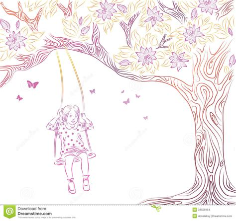 swing illustration on swing stock vector image of black innocence
