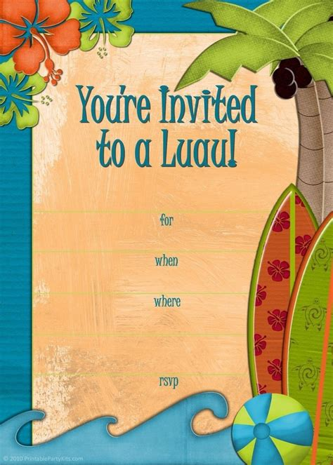Luau Wedding Invitation Template by Luau Invitation Template Resume Builder