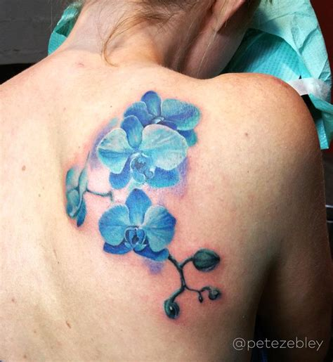 orchid tattoo by pete zebley tattoos