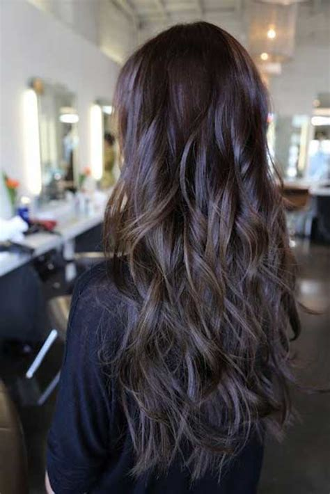feathered and layered hairstyles on dark brown hair 25 cool layered long hair styles hairstyles haircuts