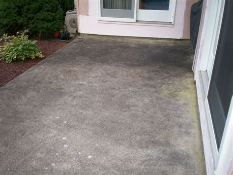 how to clean cement patio deck and patio cleaning hagerstown complete power wash