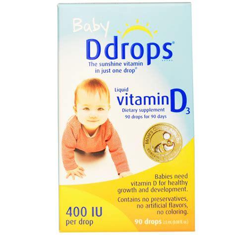 vit d syrup ddrops baby liquid vitamin d3 400 iu 0 08 fl oz 2 5