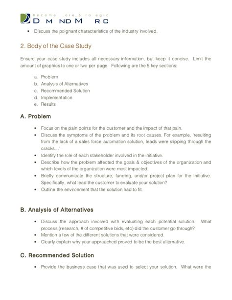 Analysis Briefformat Study Template