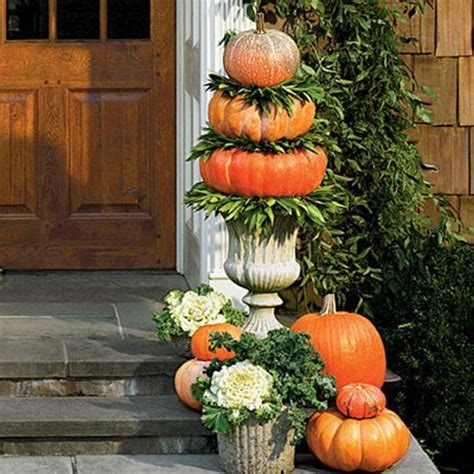 pumpkin displays fall decorating subtle sophisticated fall decorating ideas for your