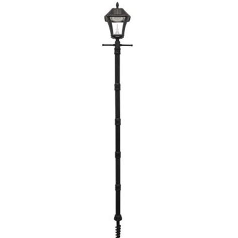 Outdoor Light Post Base Gama Sonic Baytown Ii Solar Black Resin Outdoor Post Light And L Post With Ez Anchor Base Gs