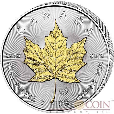 1 Oz 2015 Canadian Maple Leaf Silver Coin - canada maple leaf canadian 5 gilded 2015 silver coin 1 oz
