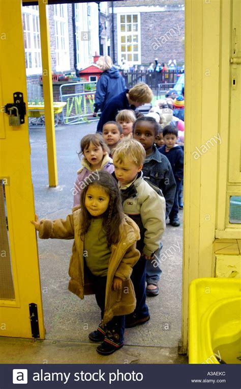 Or At School Nursery Children Arriving At School Stock Photo Royalty Free Image 6127803 Alamy