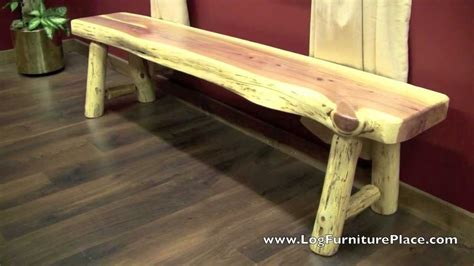 red cedar bench red cedar log bench from logfurnitureplace com youtube