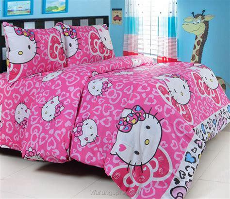 sprei panca hello leopard pink new warungsprei