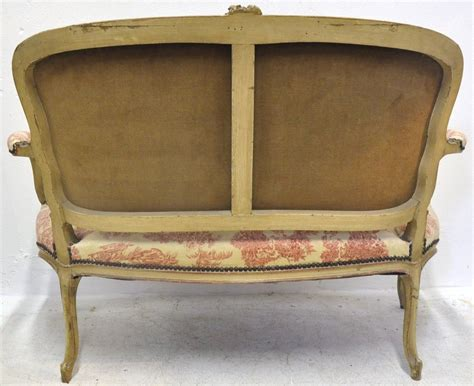 vintage settee for sale 19th century french louis xv carved painted settee with