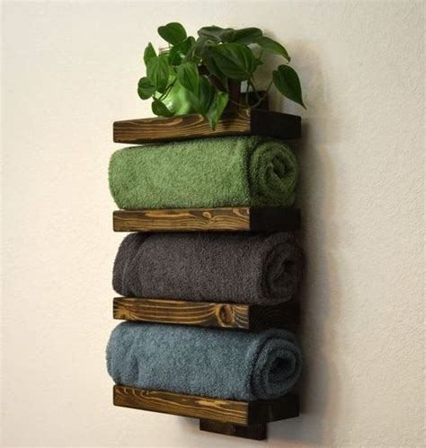 18 diy towel storage ideas to easily organize the bathroom