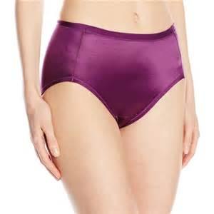 Vanity Fair Brands Vanity Fair Quot Body Caress Quot Satin Hi Cut Panties Purple Poison