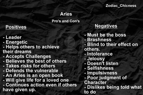aries negative characteristics aries negative traits traffic club