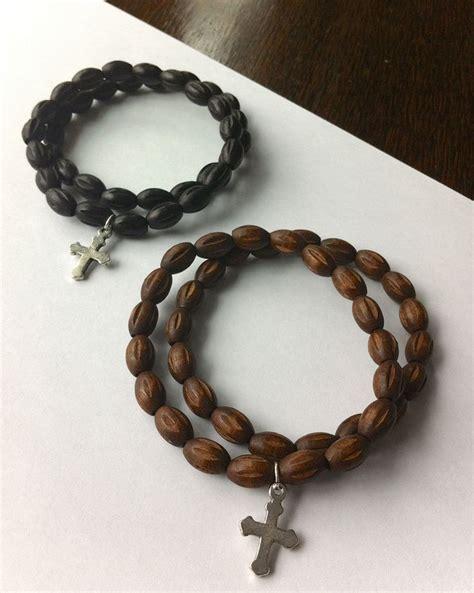 Handmade Mens Bracelets - handmade s wooden beaded bracelet choice of one