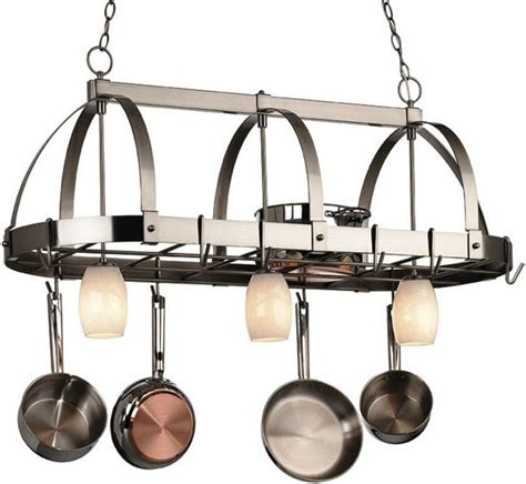 Kitchen Island Pot Rack Lighting 17 Best Images About Pot Racks On Contemporary Pot Racks Pot Racks And The Manhattans