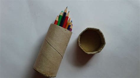 How To Make Pencil Box With Paper - how to create pencil box with tissue roll diy crafts
