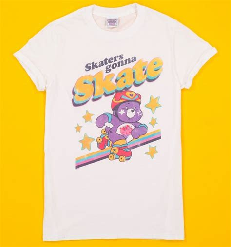 Hoodie Skaters Gonna 1 s care bears skaters gonna skate white boyfriend t shirt with rolled sleeves