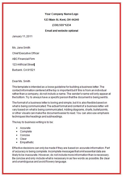 Formal Business Letter Format Exle business letter exle word 28 images business letter