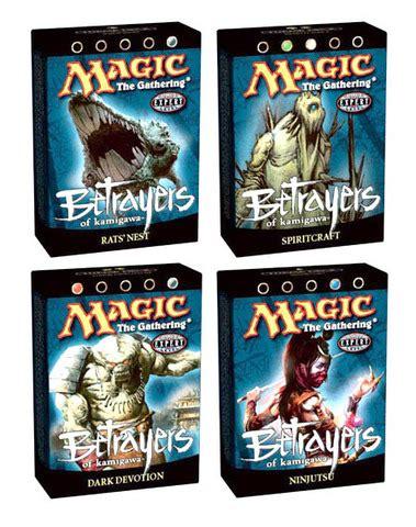 theme deck list mtg betrayers of kamigawa precon theme deck set all 4