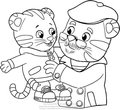 coloring pages daniel tiger daniel tiger coloring pages www pixshark images