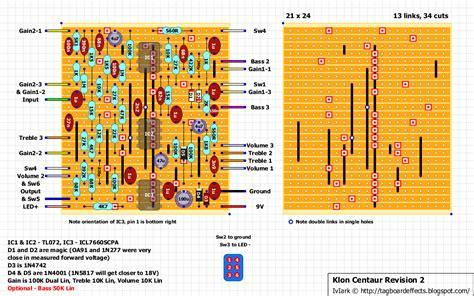germanium diode klon guitar fx layouts klon centaur rev 2