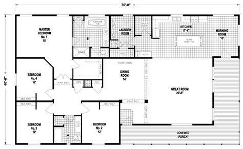 factory floor plan 18 foot wide mobile home floor plans