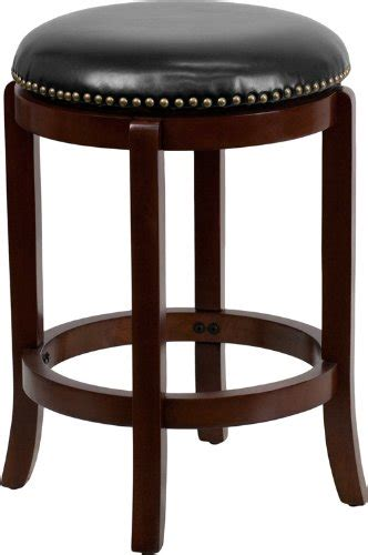 Where To Buy Animal Leg Bar Stools by 24 Backless Cherry Wood Counter Height Stool With Black
