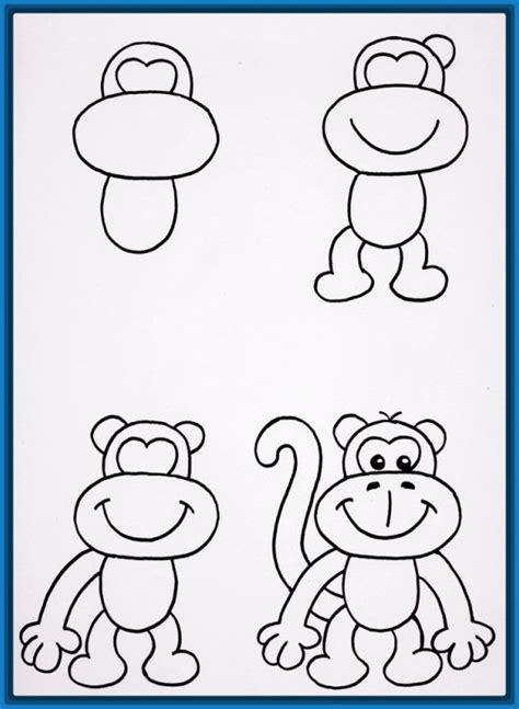 how to draw a doodle monkey dibujos faciles y lindos paso a paso archivos dibujos