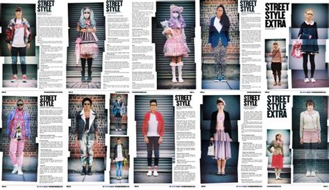 fashion section six months worth of street style montage portraits from