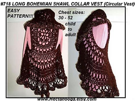 free crochet bohemian vest pattern ravelry 718 bohemian crochet vest long or short child