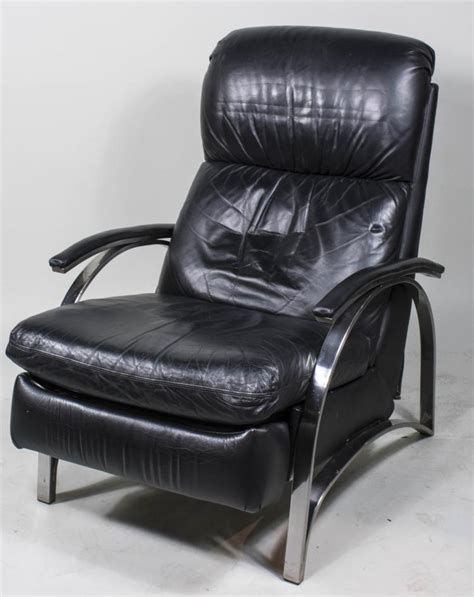 black leather recliner black leather and stainless steel recliner