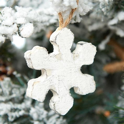 wooden rustic snowflake ornament christmas ornaments
