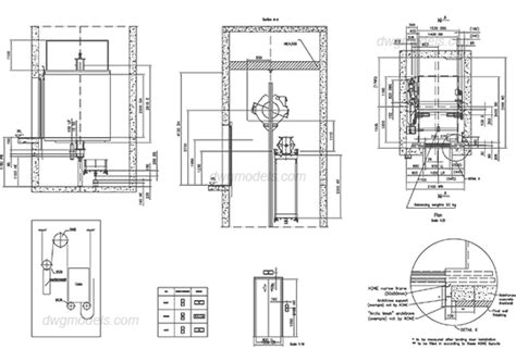 Floor Plan Electrical Symbols lifts 3 kone dwg free cad blocks download