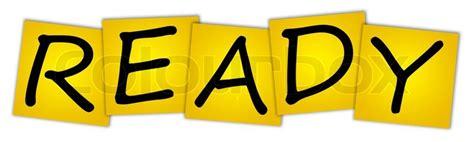 Ready Stok word ready stock photo colourbox