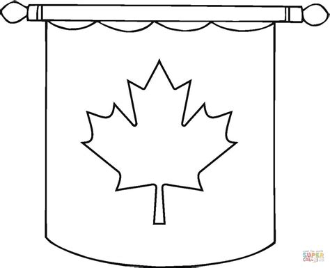 hanging canadian flag coloring page free printable