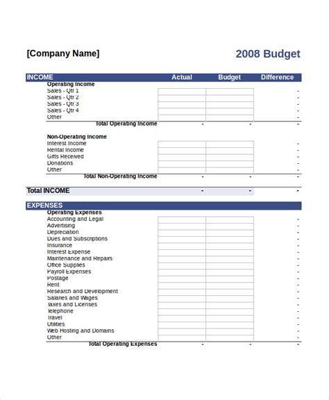 budget word template budget template word driverlayer search engine