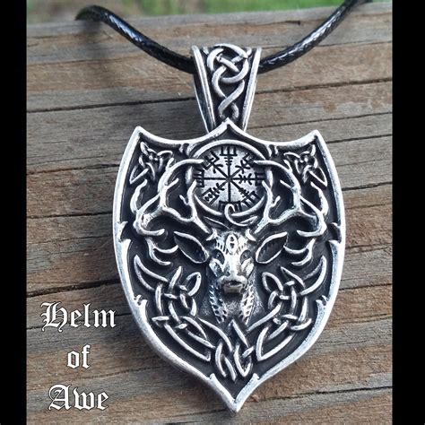 stag helm of awe necklace honor the roots